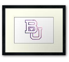 Baylor University/BU Framed Print