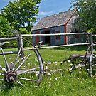 Old Wagon and Shed, Grand Pre, Nova Scotia by Harv Churchill