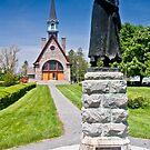 Church at Grand Pre, Nova Scotia by Harv Churchill