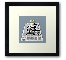 Baby Crossword Puzzle Framed Print
