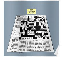 Baby Crossword Puzzle Poster