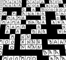 Baby Crossword Puzzle Sticker