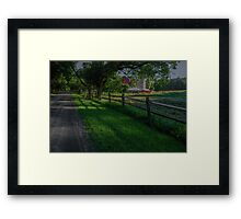 Partridge Hill Road Framed Print