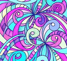 Floral Doodle Drawing by Medusa81