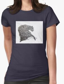 Pointed leopard Womens Fitted T-Shirt