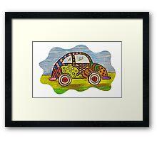 VW Punch Buggy Vroom Vroom Framed Print