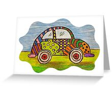 VW Punch Buggy Vroom Vroom Greeting Card