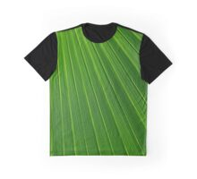 Green Leaf Texture Graphic T-Shirt