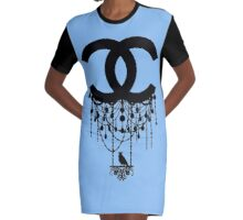CHANEL Graphic T-Shirt Dress