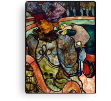 Toulouse Lautrec: At the Circus (Stained Glass) Canvas Print