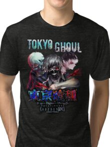 tokyo ghoul kaneki with top logo Tri-blend T-Shirt