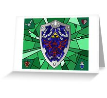 Stain Glass Hylian Sheild Greeting Card