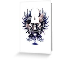 Dragon Age - Grey Warden Heraldry (Dark Blue/Gold) Greeting Card