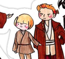 Qui-Gon, Anakin, Obi-Wan, Xanatos, and Feemor Sticker