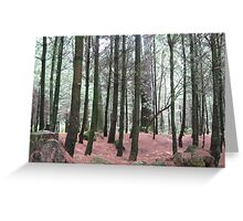 At the forest Greeting Card