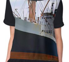 RMS Newfoundland, Ocean Liner Ship in Halifax Chiffon Top