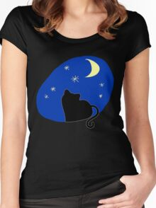 Stars and Moon Women's Fitted Scoop T-Shirt