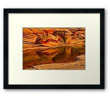 Petrified Dune Reflections Framed Print