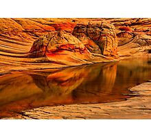 Petrified Dune Reflections Photographic Print