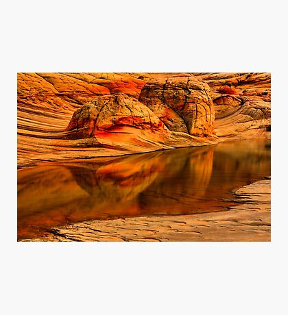Petrified Dune Reflections Photographic Print