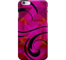 Black Swirls on Magenta Shapes iPhone Case/Skin