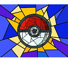 Stained Glass Pokeball Photographic Print