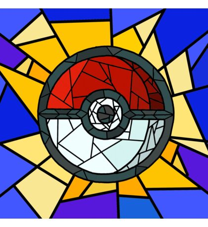 Stained Glass Pokeball Sticker