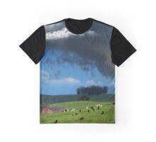 Grazing Cows in the Petaluma Hills Graphic T-Shirt