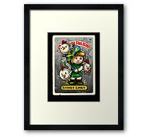 Stinky Linky Framed Print