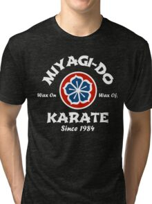 Wax On Wax Off Miyagi-Do Tri-blend T-Shirt
