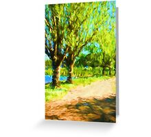 Trees next to the Path Greeting Card