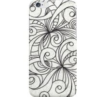 Floral Doodle Drawing iPhone Case/Skin