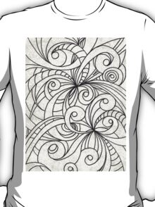Floral Doodle Drawing T-Shirt