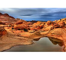 Pools And Petrified Sand Dunes  Photographic Print