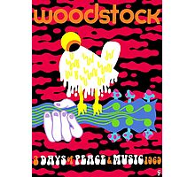 Woodstock Poster Reimagined Photographic Print