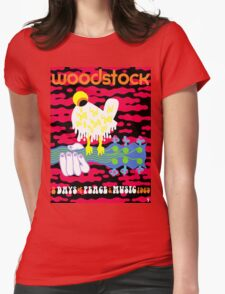 Woodstock Poster Reimagined Womens Fitted T-Shirt