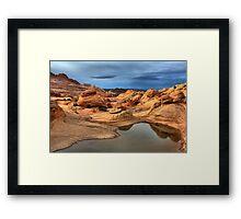 Northern Arizona Monsoon Pool Framed Print