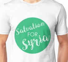 Salvation for Syria -- green Unisex T-Shirt
