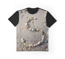 Beach Pebbles In The Shape Of The Letter S | East Marion, New York Graphic T-Shirt