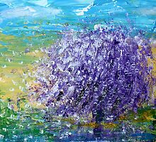 Purple Blossoms by Kume Bryant