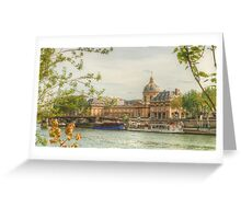 Institut de France by the Seine Greeting Card