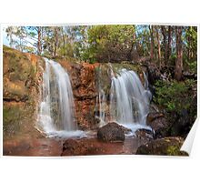 Twin Falls at Ironstone Gully Poster