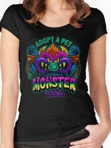 Adopt a Pet Monster Women's Fitted Scoop T-Shirt