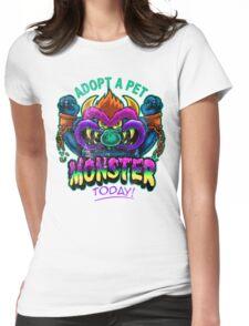 Adopt a Pet Monster Womens Fitted T-Shirt