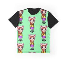 Chibi Bear Cub Graphic T-Shirt