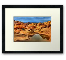 Reflections Of The Petrified Dunes Framed Print