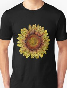 Swirly Sunflower Unisex T-Shirt
