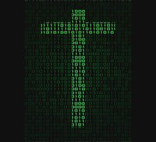 Binary Code Cross Unisex T-Shirt