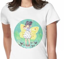 Butterfly Girl Womens Fitted T-Shirt