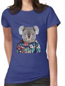 Cute Koala in a Hawaiian Shirt  Womens Fitted T-Shirt